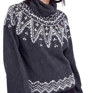 Free People Treasure Beaded Sweater